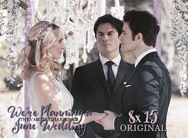 Watch on-line Vampire Diaries 8.15: We're Planning a June Wedding